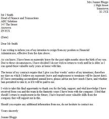 reason for leaving examples resignation letter resignation letter for leaving job formats