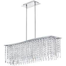 rectangular modern crystal chandelier lighting for large contemporary dining room spaces ideas