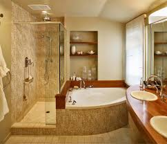 chicago corner tub shower bathroom traditional with tile ...