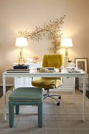 female office decor. Nice Little Office Space. Pretty Wall Decor And Lamps That Tie Into The Seating Female Pinterest