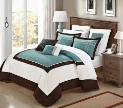 Turquoise Brown And White Bedroom - home decor photos gallery