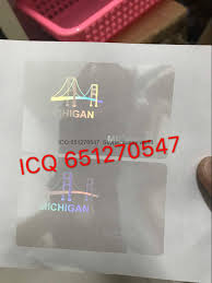 Overlay Id Mi State Packaging New - Products china Michigan Anti-counterfeiting amp; Printing Hologram Manufacturer