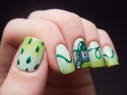 31DC2012: Day 04, Green Nails (BULBASAUR!) | Chalkboard Nails ...