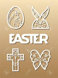 word easter egg laser cut template for easter invitation congratulation or greeting