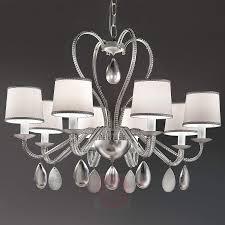 Achtflammiger Kronleuchter Anouk Silber