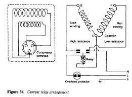 current relay refrigerator troubleshooting diagram current relay arrangement