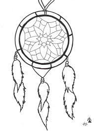 Drawn Dream Catchers Collection of 100 Feather Dream Catcher Tattoo Stencil 50