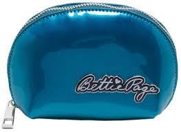 sourpuss bettie page makeup bag blue