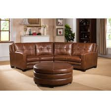 curved leather couch amazing oakbrook brown top grain sectional sofa and decorating ideas 3