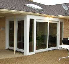 pella patio doors with blinds between the glass
