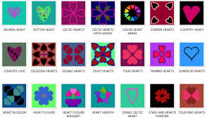 Preview the Online Quilt Block Pattern Library at Blockcrazy.com & Applique Hears Quilt Block Patterns Adamdwight.com