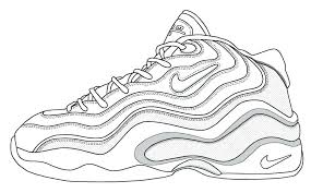 lebron shoes coloring pages lebron james shoes coloring sheets