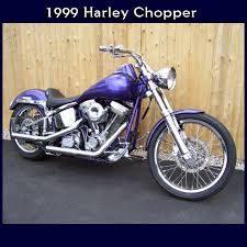 1999 harley davidson purple chopper