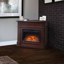 bailey wall corner electric fireplace mantel package in espresso nefcp24 0116e