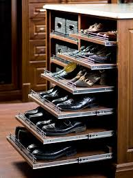 Pull Out Shoe Rack  can be added anywhere and to any depth of shelf. They  are most effective located lower than waist level to aid in seeing to th