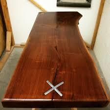 Black Walnut Coffee Table Live Edge Gallery Boundary Customs