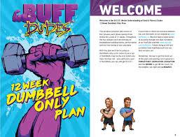 B U F F Dudes Dumbbell Only 12 Week Plan Pdf