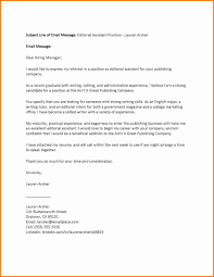 Examples Of A Cover Letter For A Job Best Of Sampl As Examples Of A