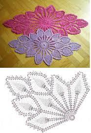 Diamond Oval Pineapple Doily Free Pattern Diagram Crochet