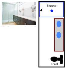 long narrow bathroom floor plans