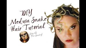 diy medusa costume snake barrettes tutorial stop the pin sanity