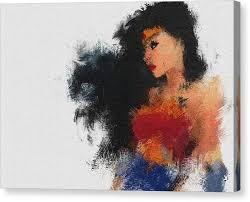 wonder woman canvas print mrs wonder by miranda sether on wonder woman canvas wall art with wonder woman canvas prints pixels