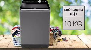 TRẢ GÓP 0% - Máy giặt Aqua Inverter 10 Kg AQW-DR100ET S- BTRẢo hành 12  tháng