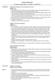 Sample Travel Management Resume Equity Product Manager Resume Samples Velvet Jobs