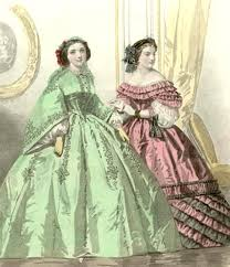 Image result for pink and green victorian gown