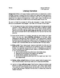 literacy narrative essay assignment by megan altman tpt literacy narrative essay assignment
