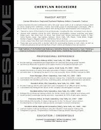 Amazing Resumes Artist Resumes Samples Amazing Design Makeup Artist Resume 100 12
