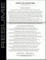 Amazing Resumes Artist Resumes Samples Amazing Design Makeup Artist Resume 100 12