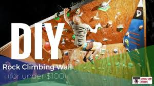 diy rock climbing wall for under 100
