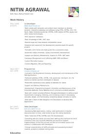 Ui Developer Resume samples