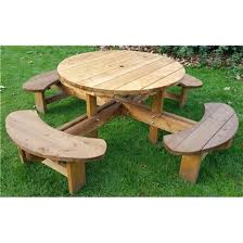 round picnic table with benches round picnic table bench set folding picnic table bench plans