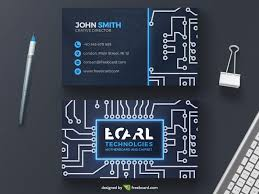 tech business card circuit business card template freebcard