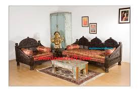 indian carved maharaja sofa set design
