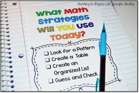 math problem solving strategies teaching to inspire math strategies