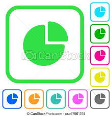 Pie Chart Vivid Colored Flat Icons