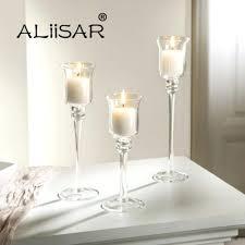 candles glass goblet candle holder elegant long stem wedding decoration candles cand