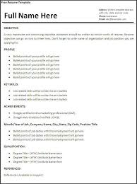 How To Make A Resume For The