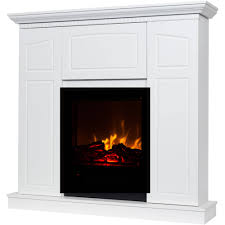 decor flame electric fireplace with 40 mantle and storage com