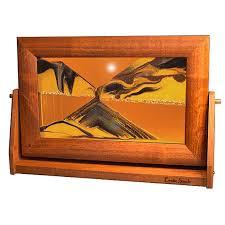 sand art picture sunset orange alder wood frame lg