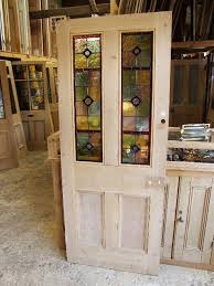 edwardian stained glass doors