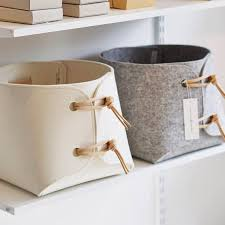 Soft storage bins Rope Handles Fabric Bin Large Toy Storage Bin With Leather Straps Big Storage Basket Soft Felt Storage Box Pinterest Fabric Bin Large Toy Storage Bin With Leather Straps Big Storage