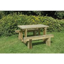 garden set. Simple Garden Forest Garden Sleeper Bench And Table Set  18m Inside C