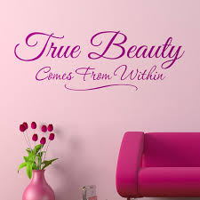 Beauty Parlour Quotes Best of True Beauty Wall Lettering Quote Graphics True Beauty Quotes