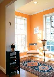 sunroom paint colorsSunroom With Runner And Orange Warm Paint Colors  Warm Paint