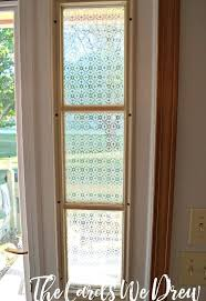 decor s glass etched front door side window crafts doors how to window treatments w