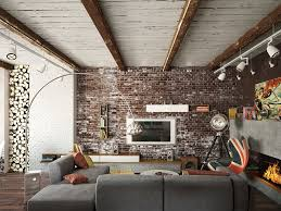 Exposed Brick Wall. Home Designs: Union Jack Curtains - Artistic